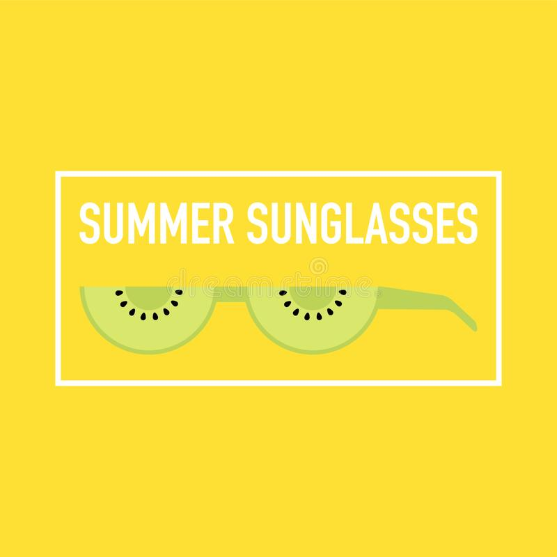 Summer epic sunglasses made out of fruits royalty free illustration
