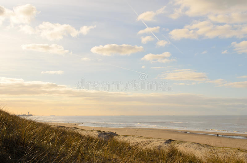 Summer evening at the coast royalty free stock photo