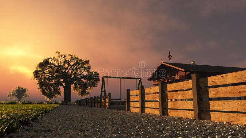 Summer Evening royalty free stock images