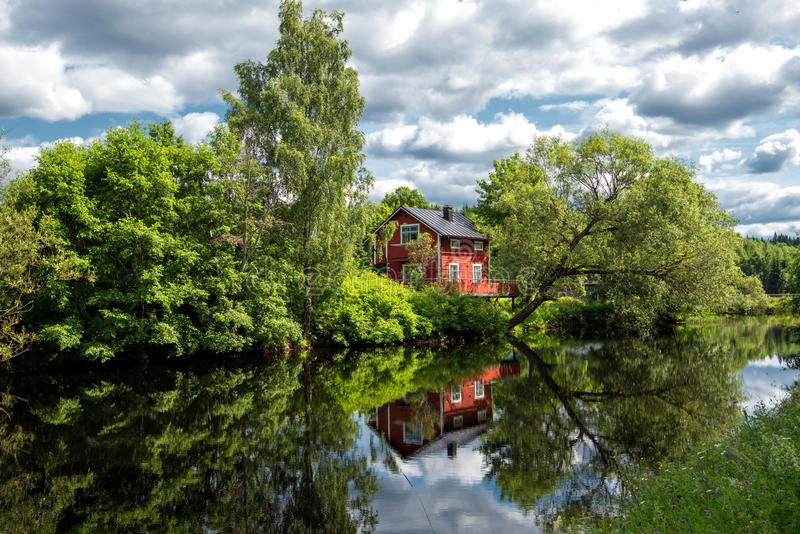 Summer evening in Sweden royalty free stock photography