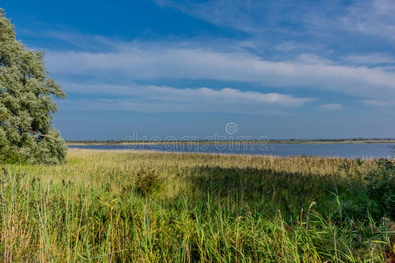 Summer excursion to the Baltic Sea island Hiddensee - Hiddensee/Germany. August 2019 stock image
