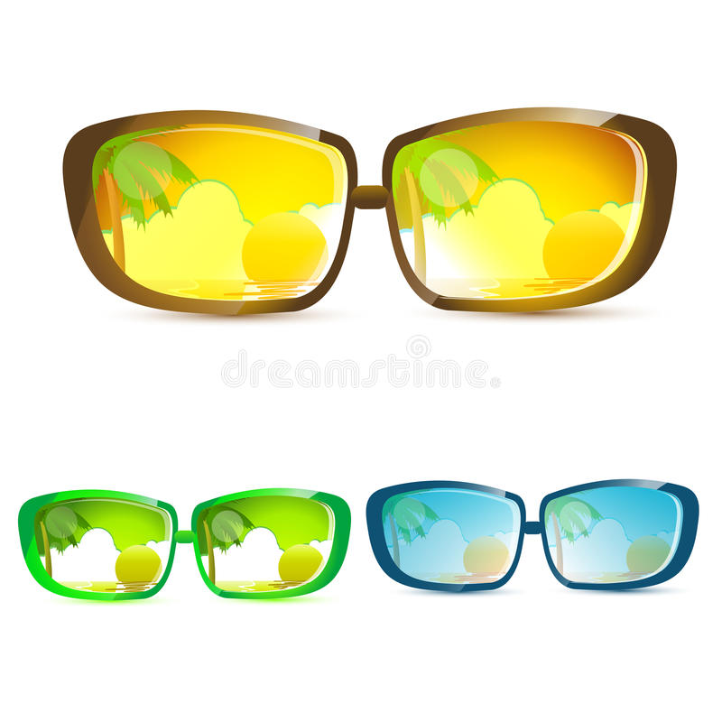 Download Summer eye wears stock vector. Illustration of icon, accessory - 17557804