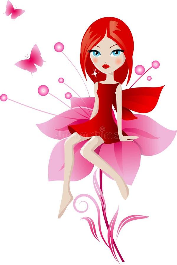 Summer fairy stock illustration