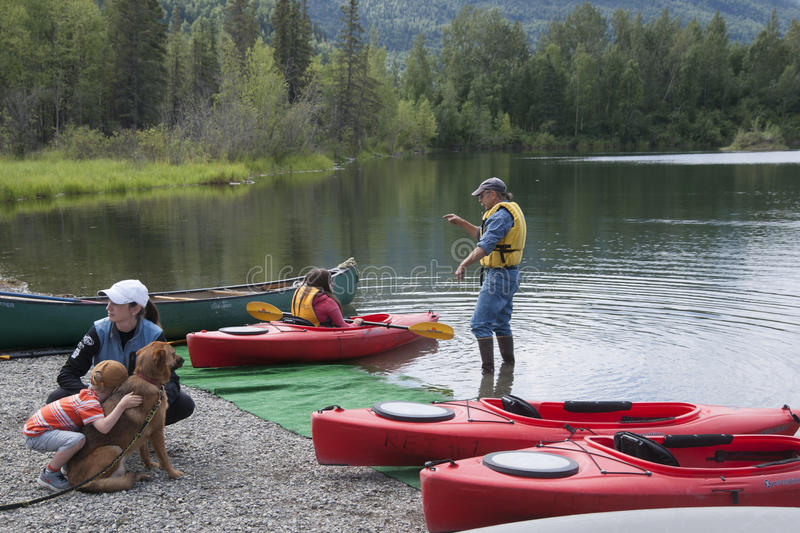 Download Summer Family Fun Day Reflections Lake Alaska Editorial Stock Image - Image of family, lecture: 56854839
