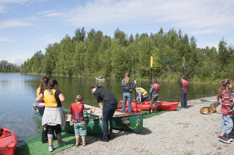 Download Summer Family Fun Day Reflections Lake Alaska Editorial Photo - Image of rescue, lecture: 56855001
