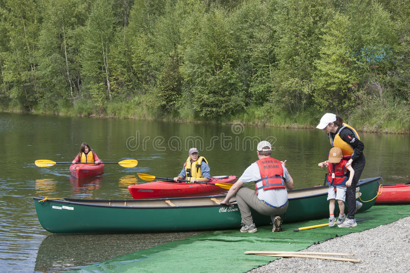 Download Summer Family Fun Day Reflections Lake Alaska Editorial Photo - Image of alaska, state: 56855091