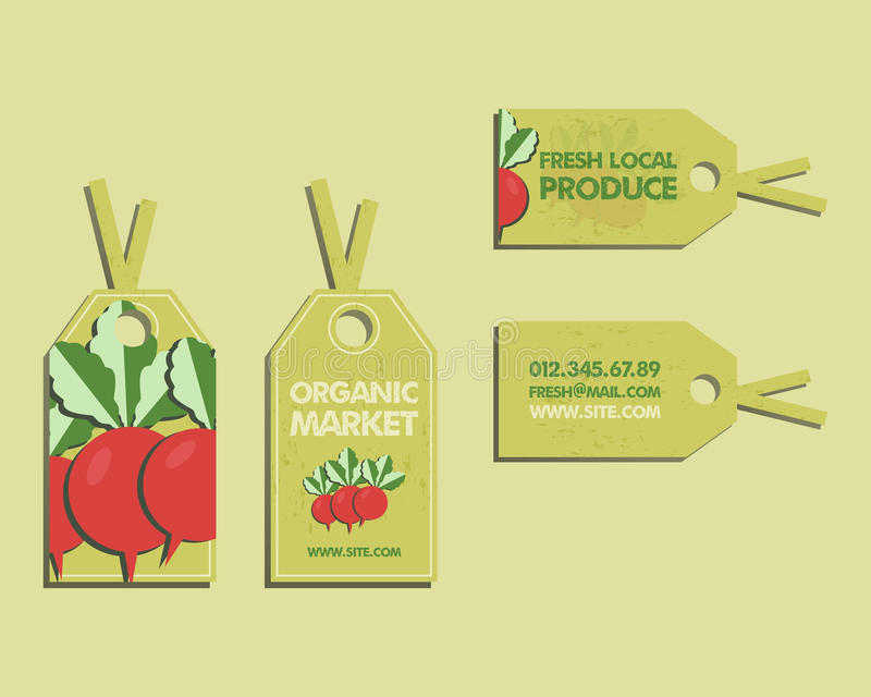 Download summer farm fresh sticker template or brochure stock vector illustration of lifestyle