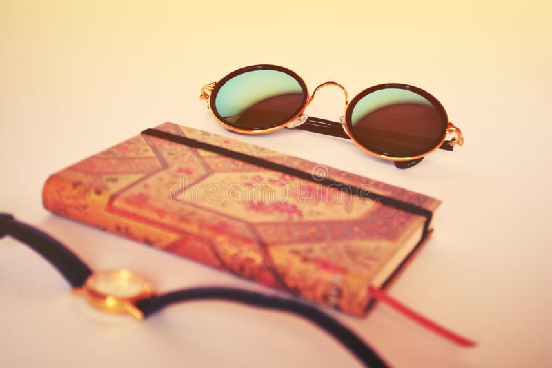 Summer fashion accessories stock photo