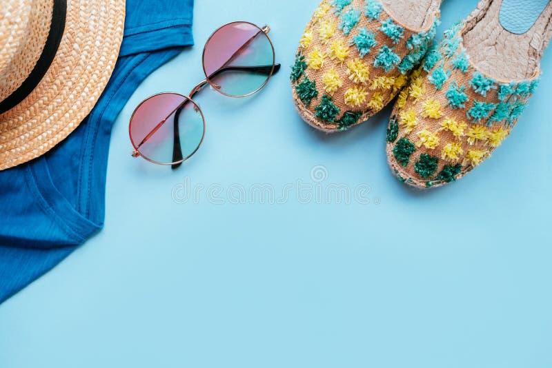 Summer fashion flatay stock image