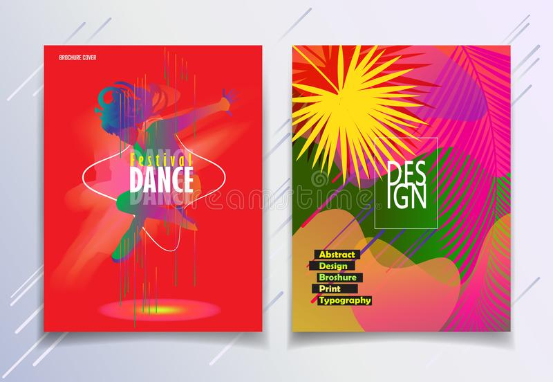 Summer EURO music festival carnival Jazz modern Dance. Hello Summer Festival 2019 EURO music, jazz, pop, disco, dance, club, Holiday colorful modern poster stock illustration