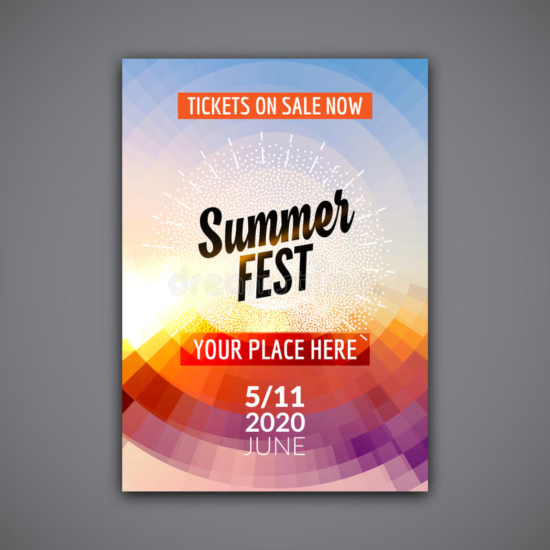 Summer Festival Flyer Design Template Summer Poster Flyer Template