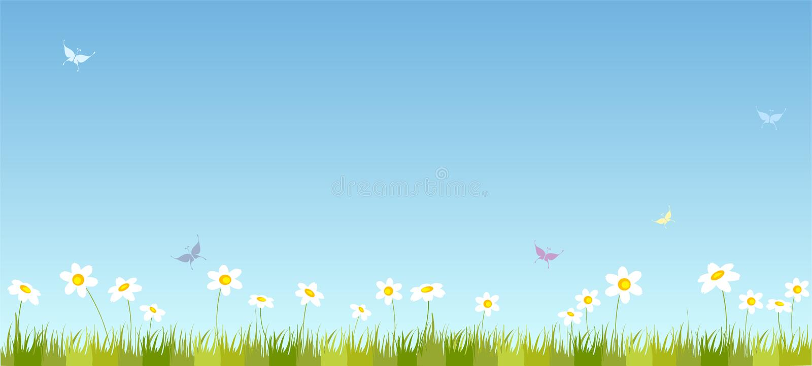 Summer field stock illustration