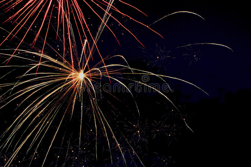 Summer Fireworks Night royalty free stock photography