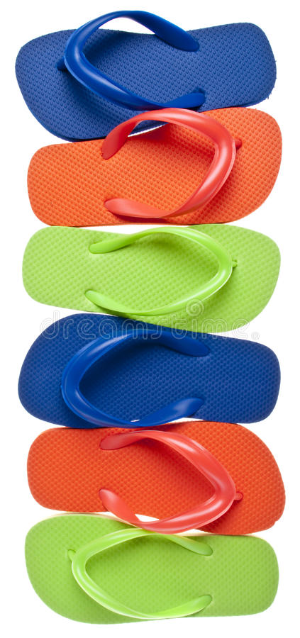 Summer Flip Flop Sandal Background stock images