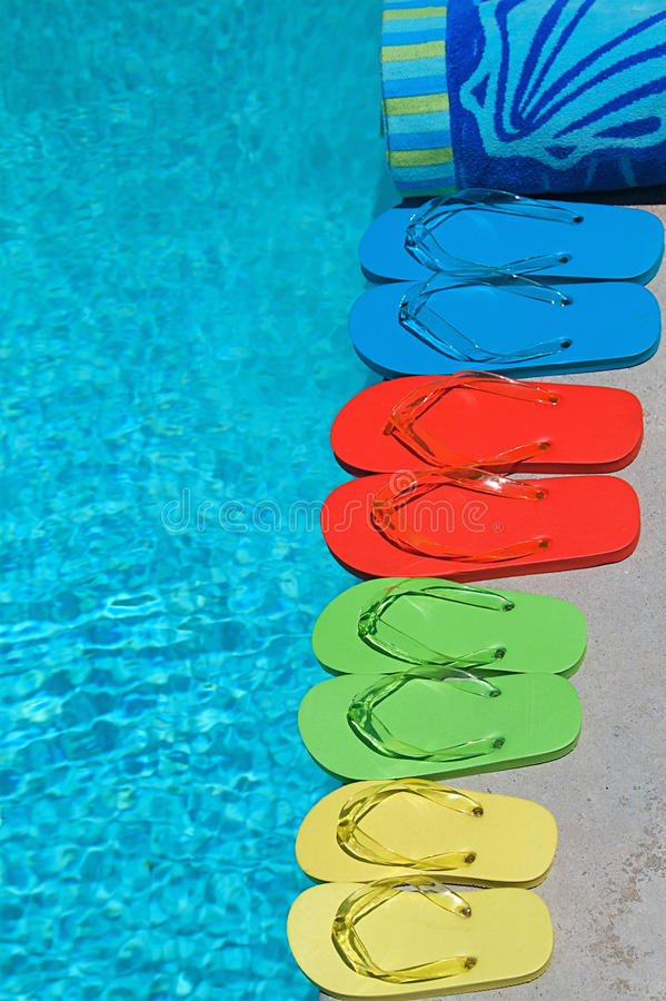 Download Summer Flipflops stock photo. Image of outside, pool - 14760458