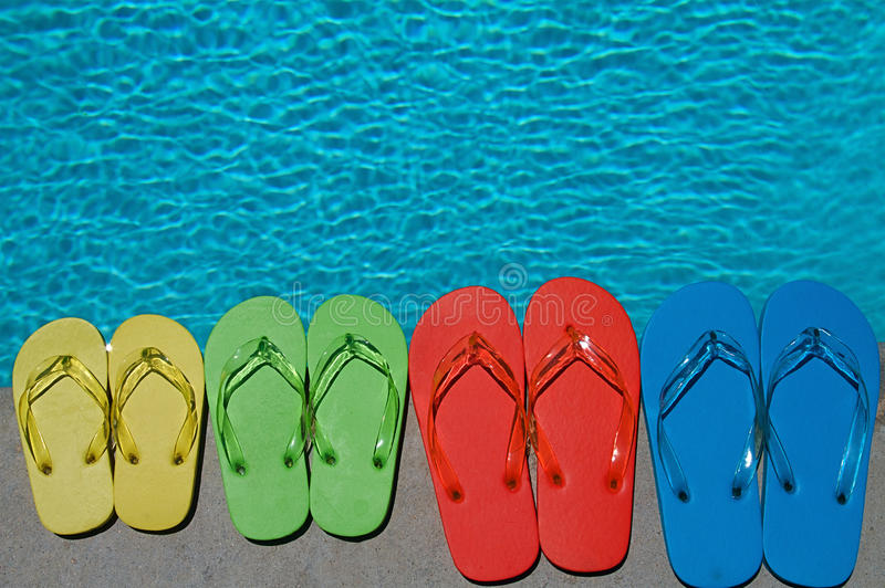 Download Summer Flipflops stock image. Image of blue, edge, flipflops - 14760471