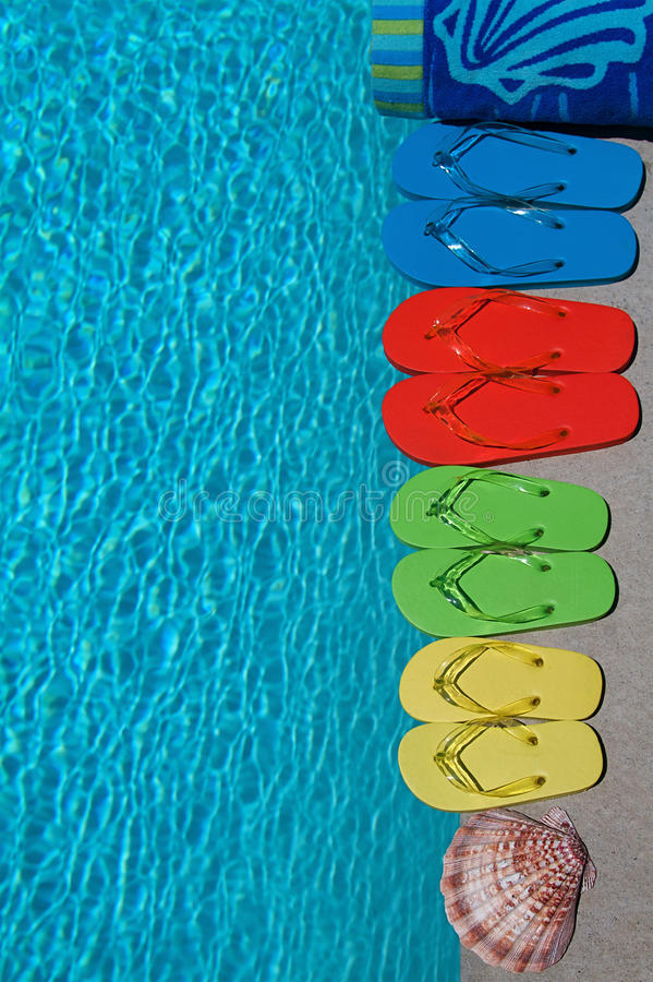 Download Summer Flipflops stock image. Image of family, blue, sandals - 14760481