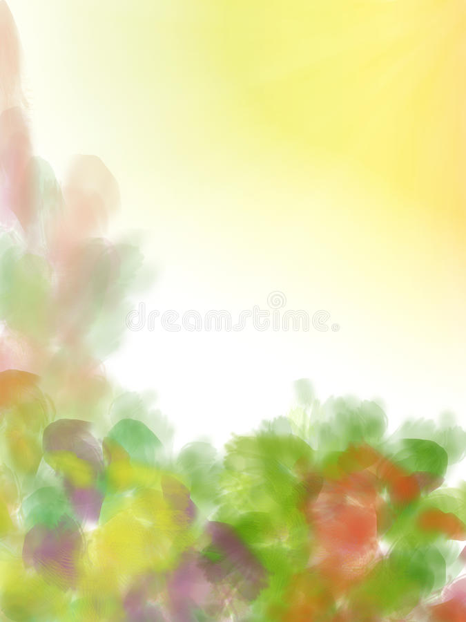 Summer floral background stock photography