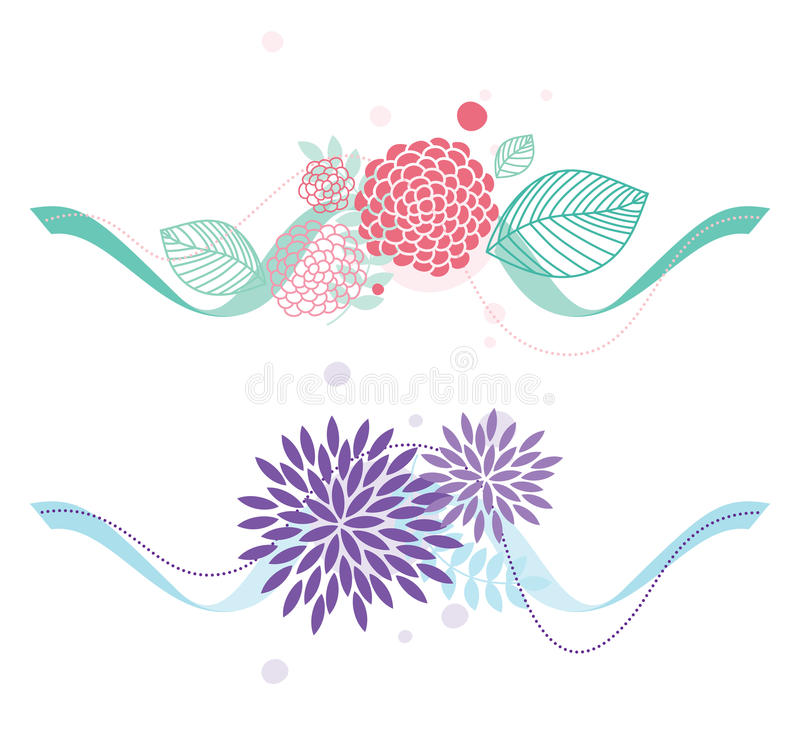 Summer floral elements royalty free illustration