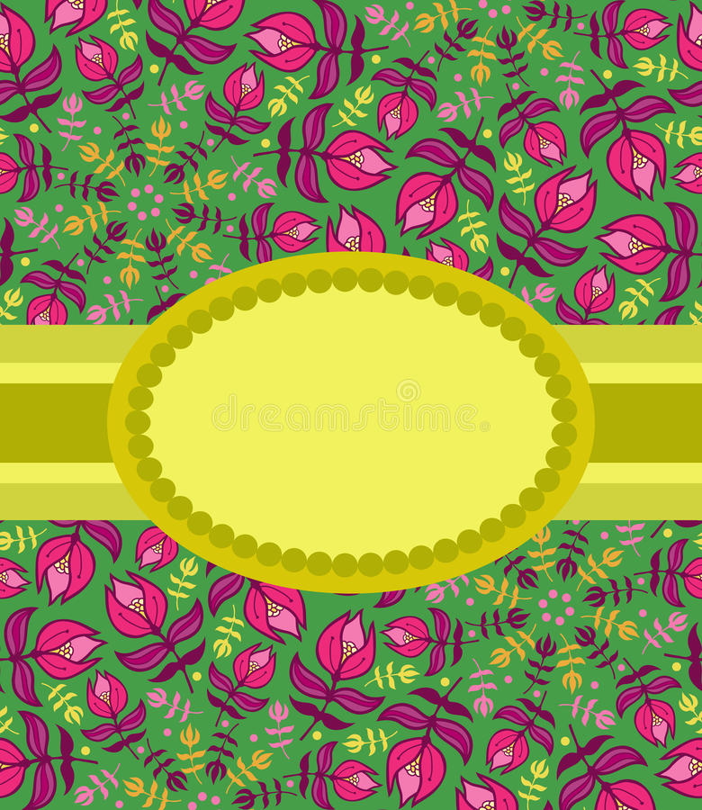 Download Summer Floral Greeting Card Stock Illustration - Illustration of garden, happy: 30969244