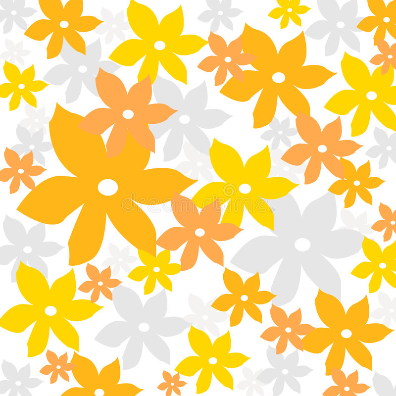 Summer floral pattern royalty free illustration