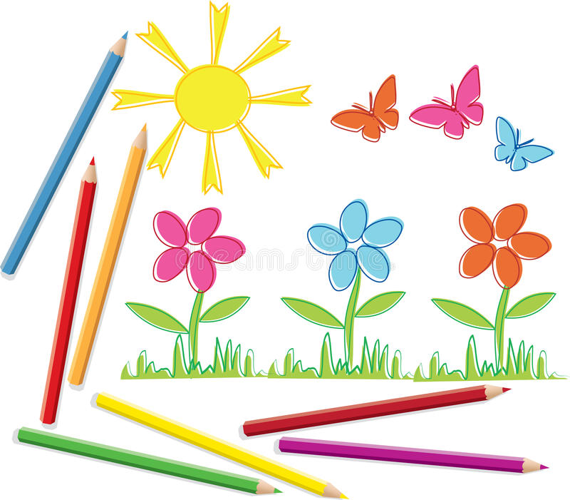 Summer flowers. The illustration contains the image of summer flowers