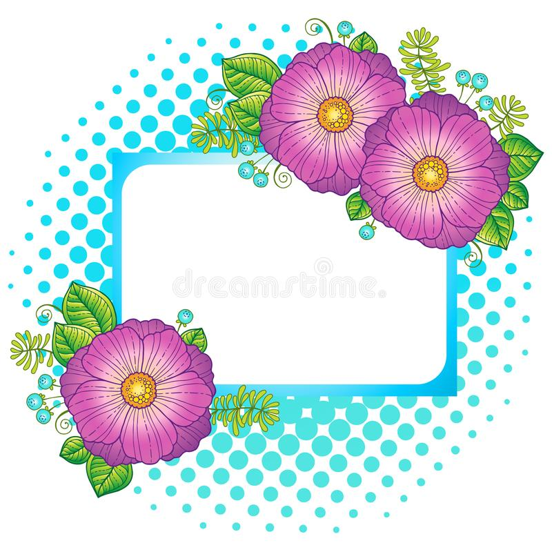 Summer flowers. Vector isolated elements. Vector image for print on clothes, textiles, posters, invitati. Summer flowers. Abstract background made of flowers and stock illustration