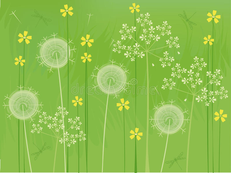 Download Summer flowers background stock vector. Image of bloom - 9915016