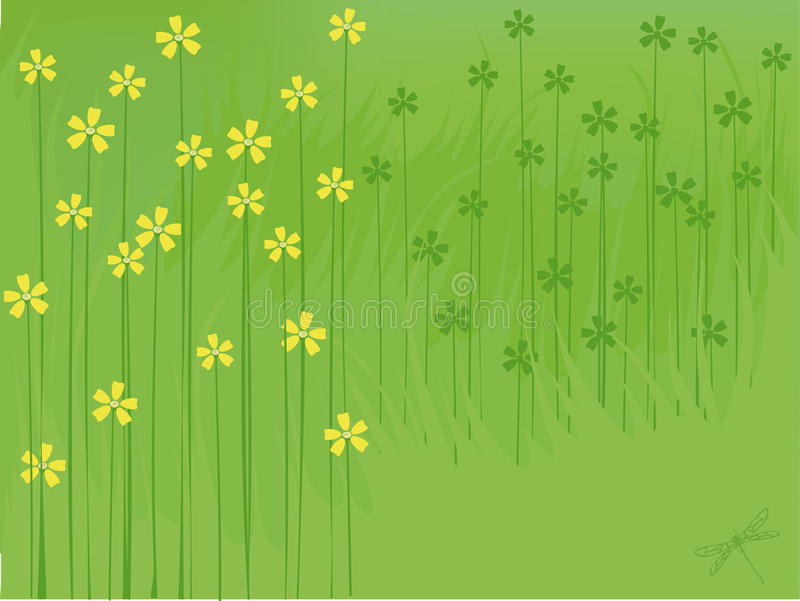 Download Summer flowers background stock vector. Image of freshness - 9915020