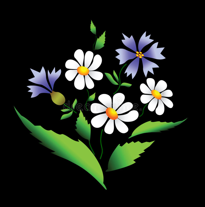 Download Summer Flowers. Vector. Royalty Free Stock Photos - Image: 9190738