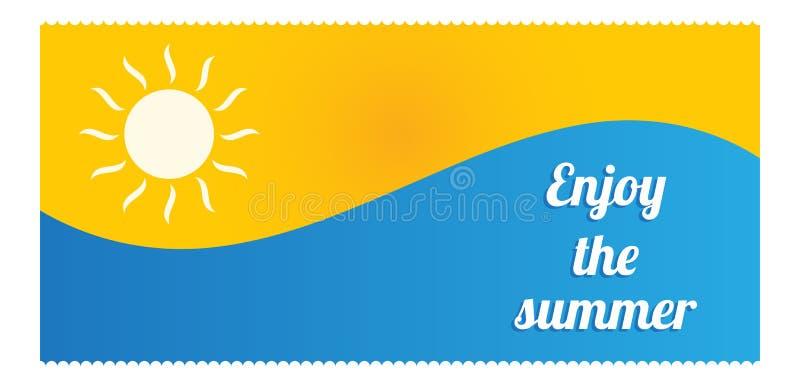 Summer flyer design royalty free illustration