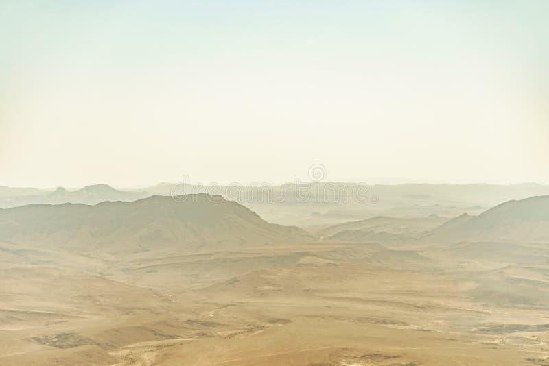 Summer fog in israel negev desert royalty free stock photos