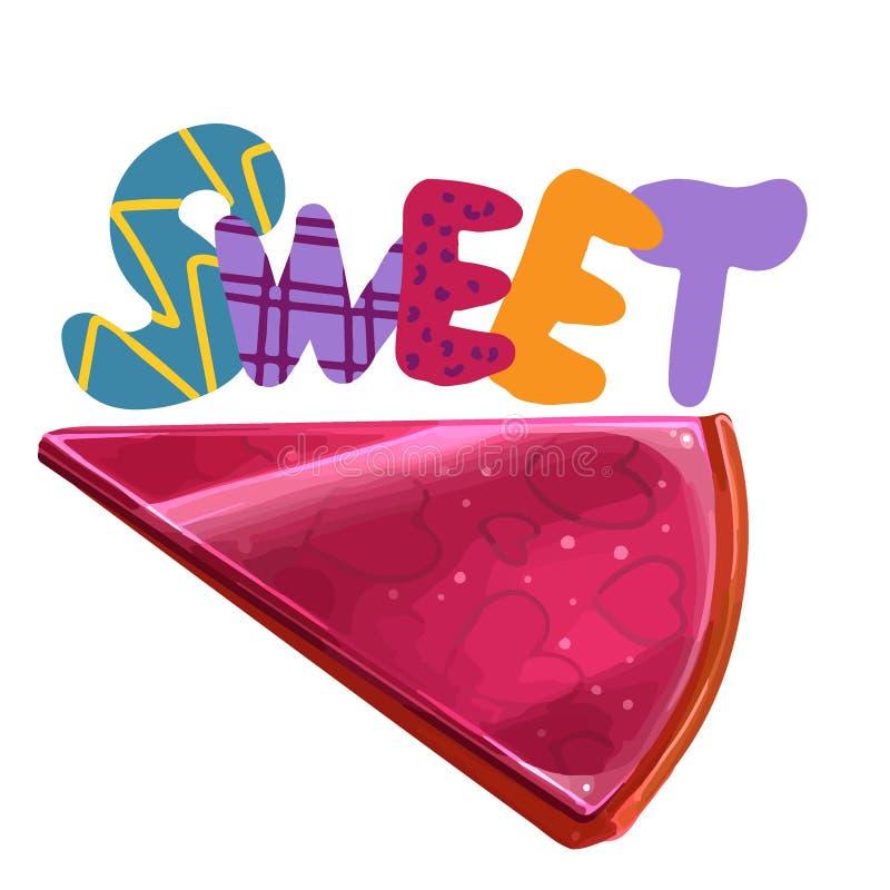 Summer food illustration, set of candy bar. royalty free illustration