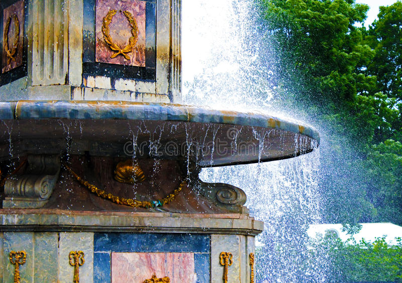 Summer fountain in Peterhof royalty free stock photo