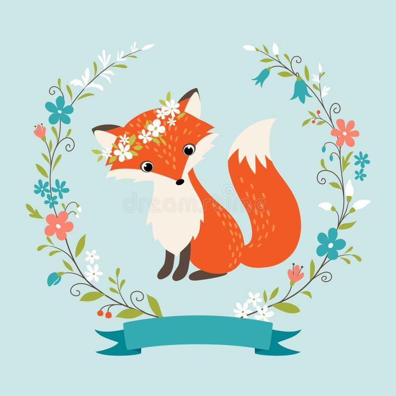 Summer fox royalty free illustration