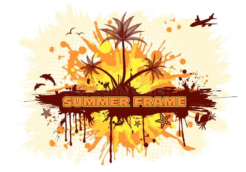 Download Summer frame stock vector. Image of blot, orange, backdrop - 20003168
