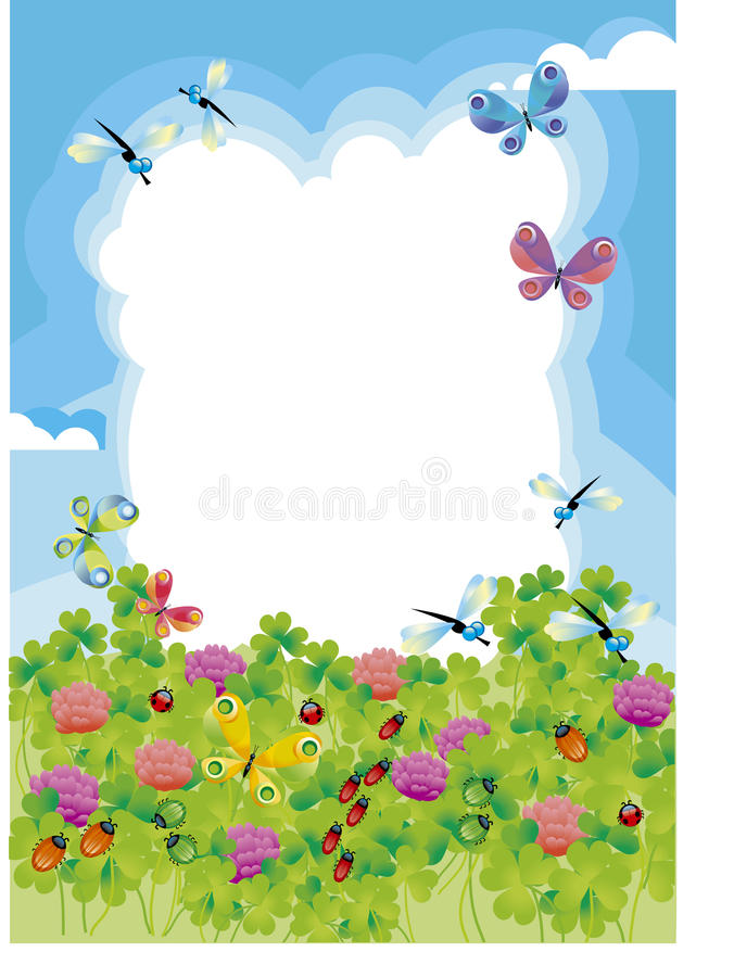 Summer frame stock vector. Illustration of kids, field - 22945728