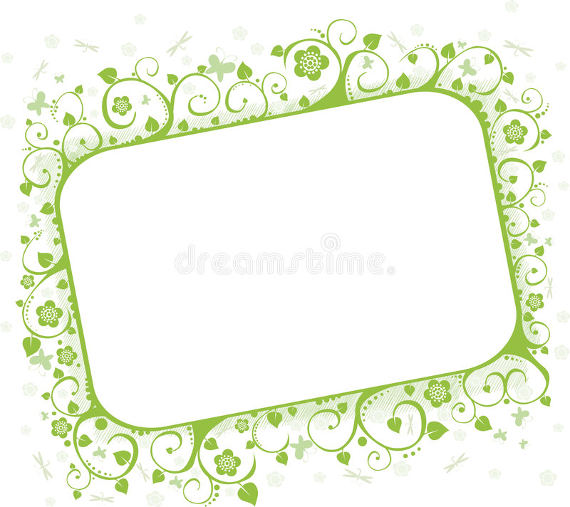 Download Summer frame stock vector. Image of design, dragonfly - 6587560