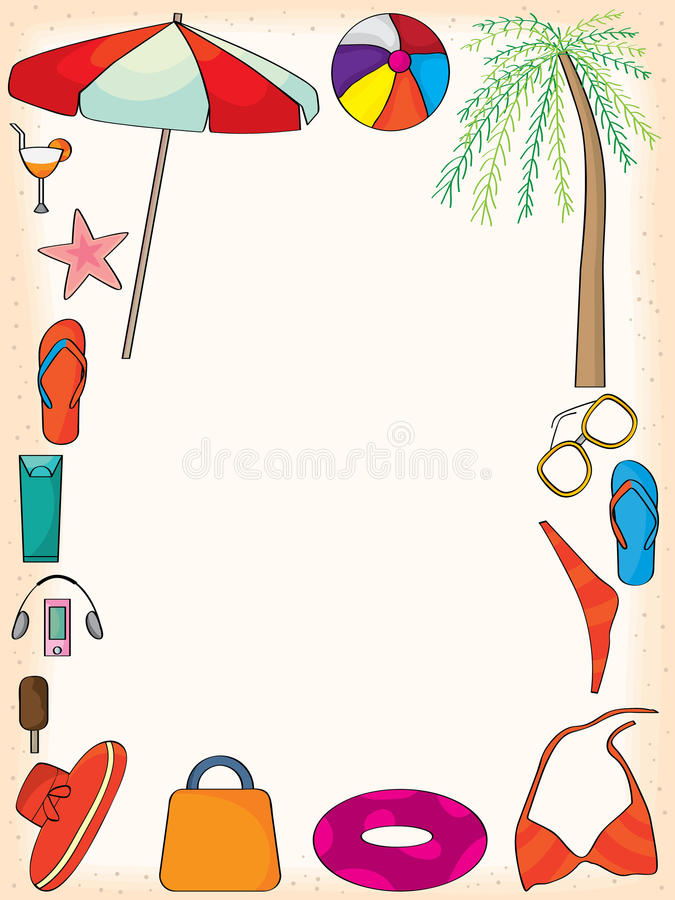 Summer Frame stock vector. Illustration of beach, framework - 41871724