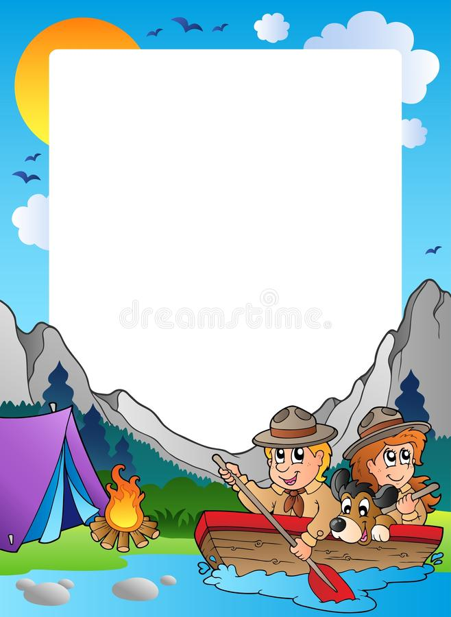 Download Summer Frame With Scout Theme 4 Stock Photo - Image: 19416380