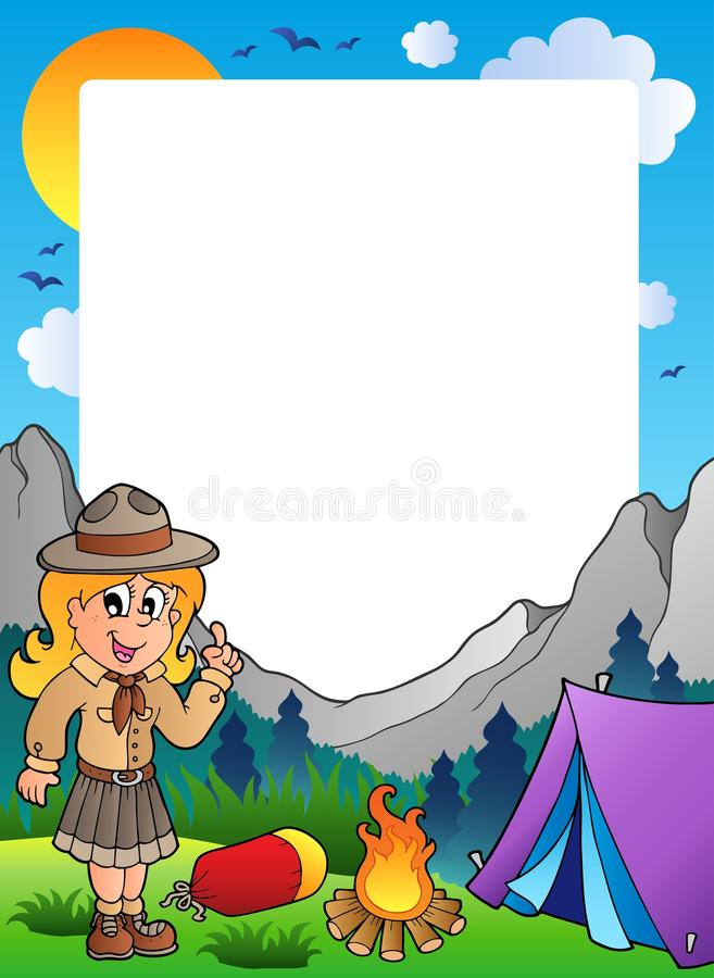 Free Summer Frame With Scout Theme 2 Royalty Free Stock Photography - 19397357