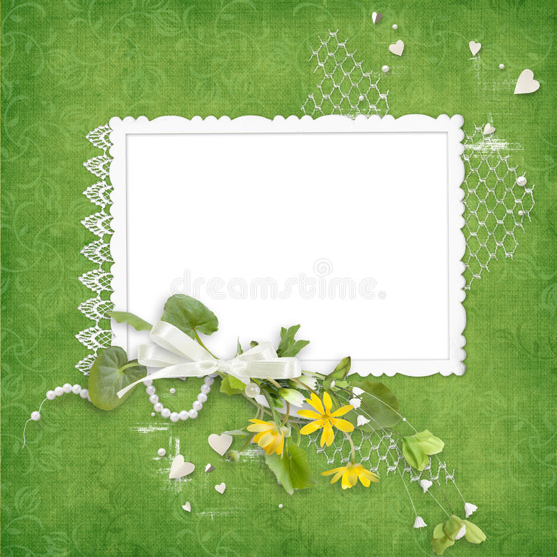 Free Summer Frame With Yellow Flowers Royalty Free Stock Images - 20333169