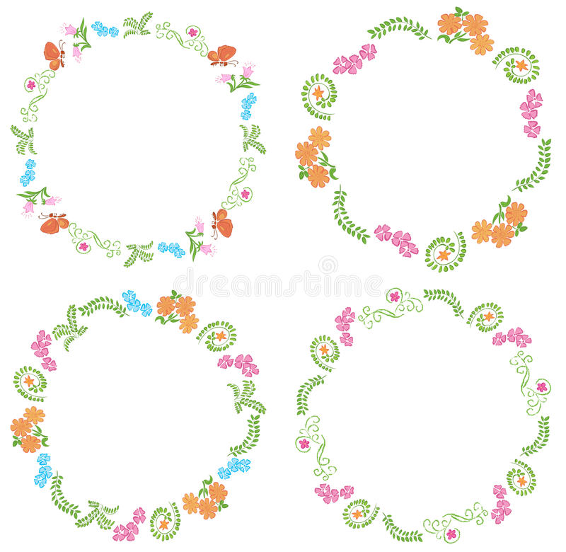 Download Summer Frames With Flora And Fauna - Vector Stock Vector - Image: 42945244