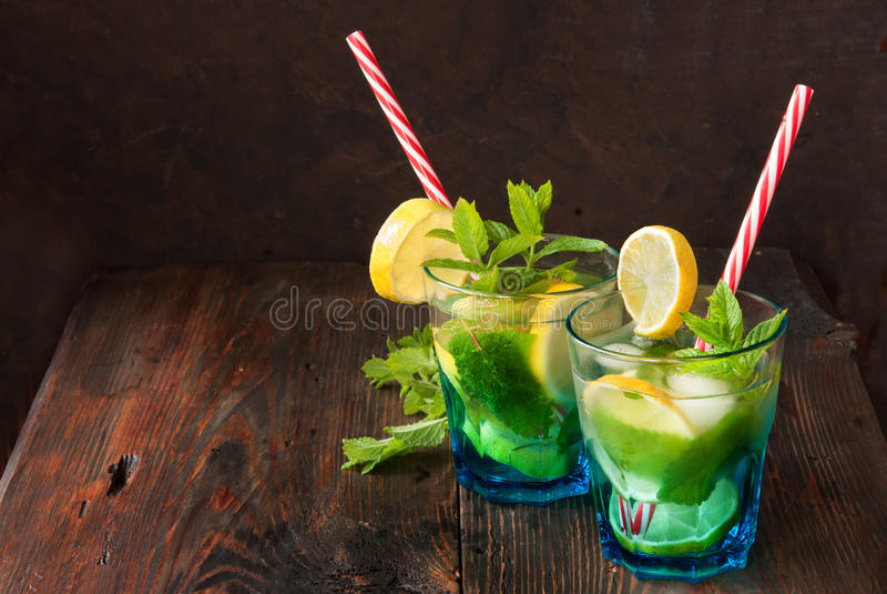 Summer fresh mojito stock photos