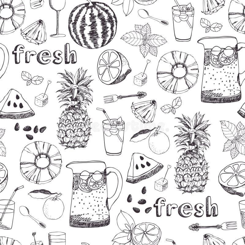 Summer freshness background royalty free illustration