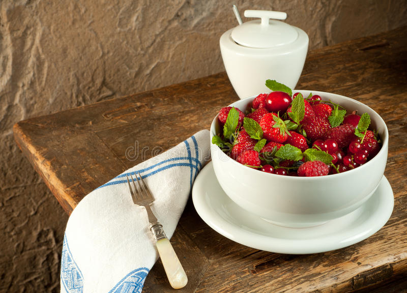Download Summer fruit stock image. Image of closeup, mint, strawberries - 20053783