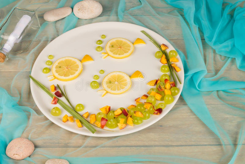 Summer fruit salad royalty free stock photography