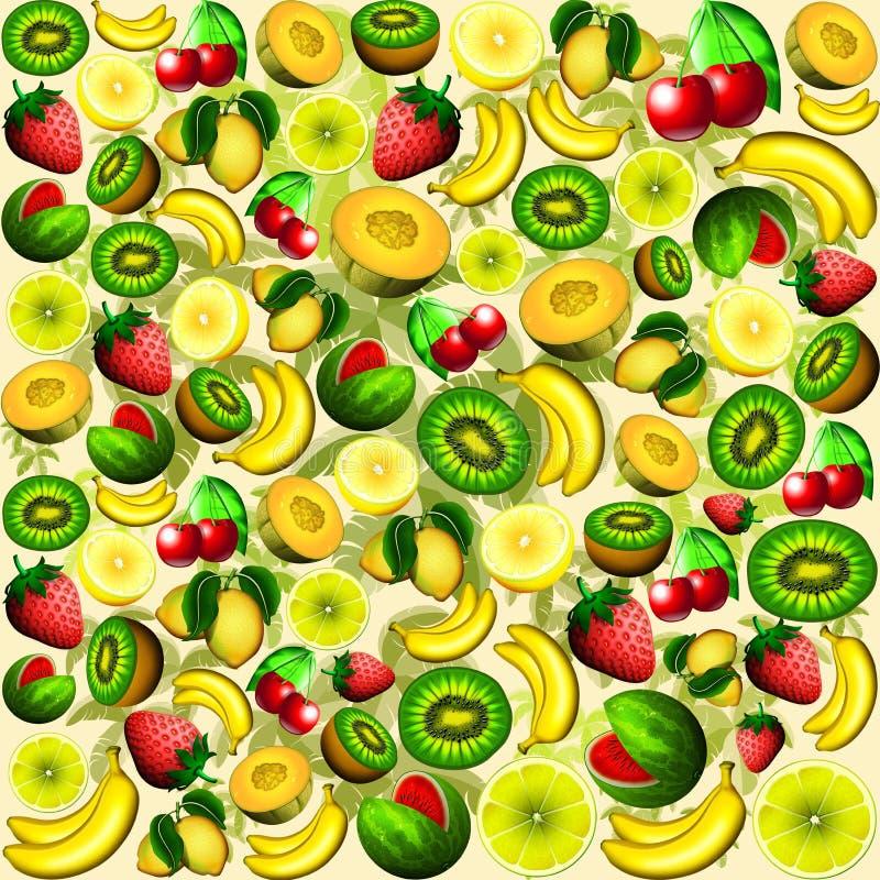 Download Summer Fruits Juicy Pattern Stock Illustration - Illustration of delicious, orange: 69983083