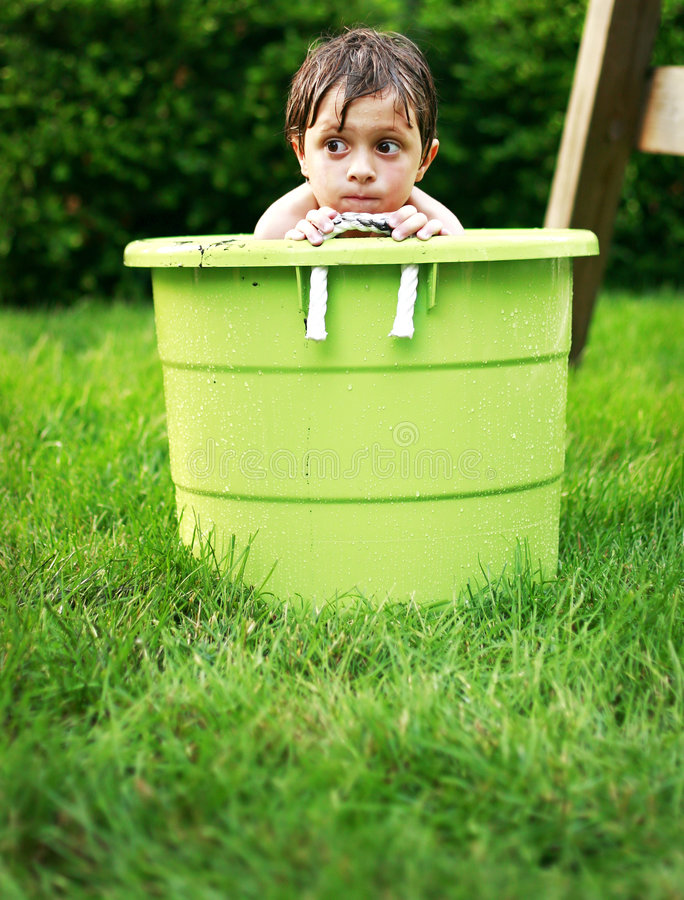 Summer fun in backyard royalty free stock images