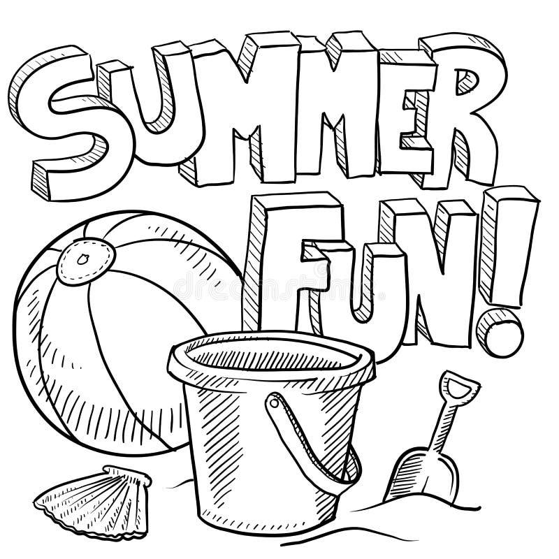 Download Summer Fun At The Beach Vector Stock Vector - Illustration of ocean, beach: 24689882